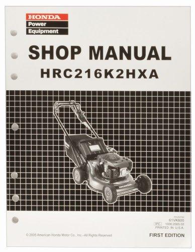 Honda Hrc216 Hxa K2 Commercial Lawn Mower Service Repair Shop Manual