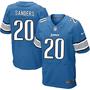 Barry Sanders Detroit Lions New Blue Game Replica Jersey by Nike