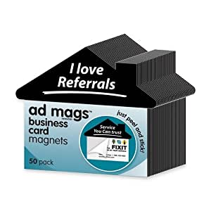 Amazoncom ad mags 39i love referrals39 business card for Business card magnets peel and stick