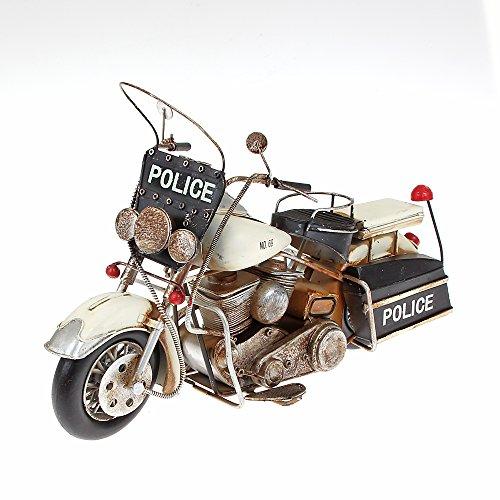 Metal Model Old Police Bike Approx. 34cm x 8cm x 20cm