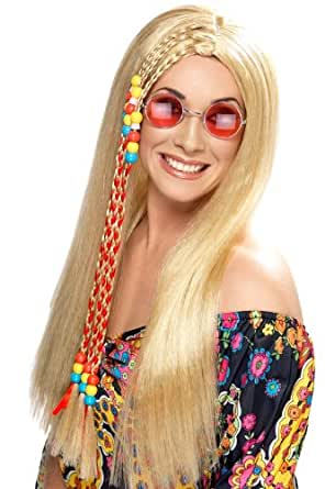 Smiffy's Hippy Party Wig, Blonde, One Size