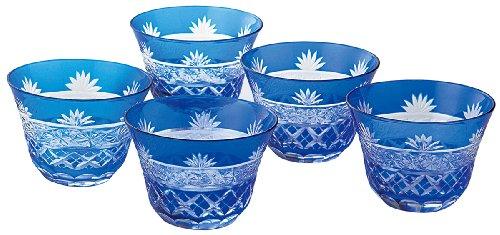 Five Customer Set Yck-8011 Chrysanthemum Cut Glass Filler Iced Tea