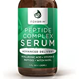 Peptide Complex Serum - BEST Anti Aging Serum - Anti Wrinkle Skin Care - Advanced Delivery - Facial Skin Care - Natural & Organic - Plump, Smooth and Even Skin - For Collagen Production & Optimal Skin Health - Amazing Guarantee 1oz