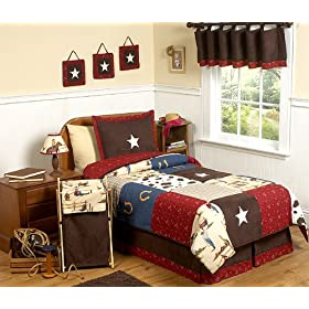 Wild West Cowboy Western Horse 4 pc Twin Kids Childrens Boy Bedding Set by JoJo Designs
