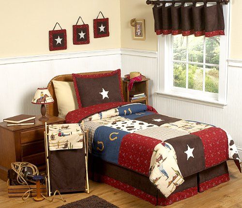 Wild West Cowboy Western Childrens Bedding - 4pc Twin Set