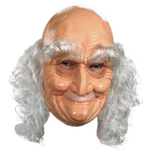 Adult Old Man Full Vinyl Mask Costume