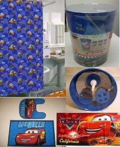 Amazon Com 20 Pc Disney Cars Lightning Mcqueen Bathroom