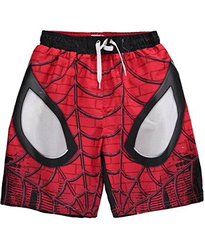 """Spiderman """"viso di un eroe per bambini Costume Boxer pantaloncini Rosso Black & Red"""