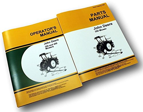 Lot John Deere 350 Sickle Bar Mower Operators Owners Manual Parts Catalog Sickle