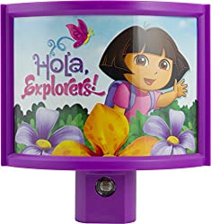Projectables 13406 Nickelodeon Wraparound LED Shade Night Light Dora The Explorer Multi