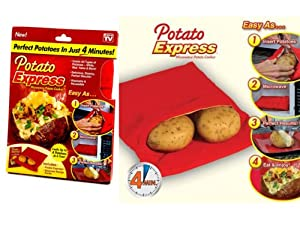 EXPRESS TRADING ® JACKET POTATO EXPRESS MICROWAVE COOKER BAG 4 MINUTES FAST REUSABLE WASHABLE COOK
