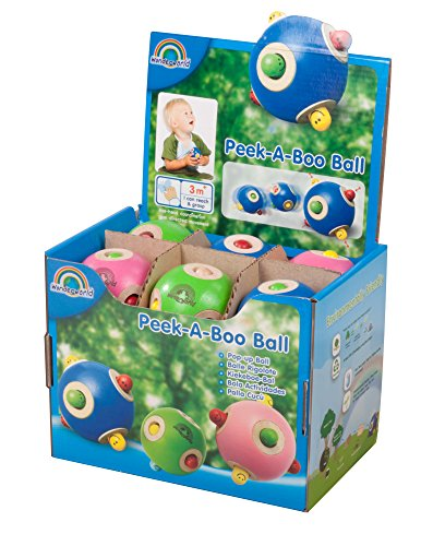 Peek A Boo Ball - 12 piece (3 color) assorted PDQ - 1