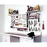 "WallPeg 72"" x 32"" Garage Pegboard Kit - Plastic Pegboard Panels AM 24323W-2"