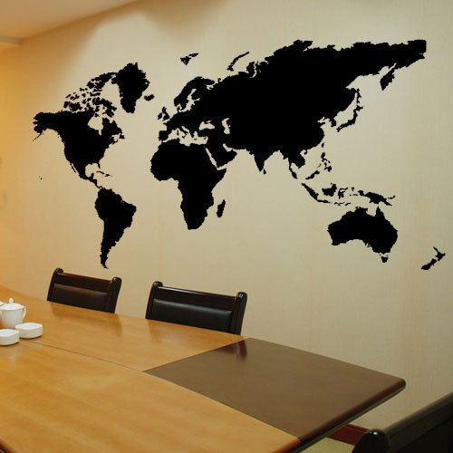 funky decor with map of the world wall murals funk this house. Black Bedroom Furniture Sets. Home Design Ideas