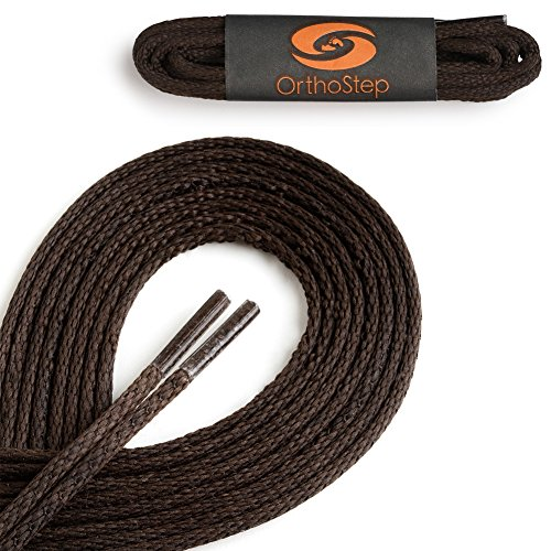 4 Pair Pack Waxed Very Thin Dress Round Brown 27 Inch Shoelaces