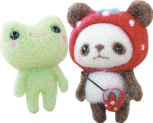 ハマナカ 苺帽子のパンダちゃんとかえる 441-308 /製作キット