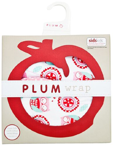 Plum Collections Baby Girl Cotton Jersey Large Swaddle Wrap Love Owl Design