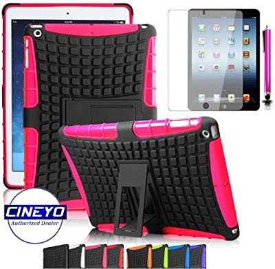 ShopNY Case - iPad Mini Lightweight Hard Shell Case with Built in Stand. Dual Layer Shock Absorbing Case Designed for the New iPad mini / iPad mini Retina / iPad mini 2 by CINEYO