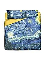Tele d'autore by MANIFATTURE COTONIERE Juego De Funda Nórdica Van Gogh Notte Stellata (Azul)