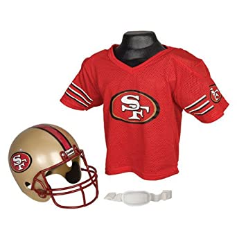 NFL San Francisco 49ers Youth Helmet and Jersey Set by Franklin