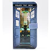 Funny Tardis From Inside Doctor Who Pattern Slim Wallet Card Flip Stand Leather Pouch Case Cover For Iphone 6...