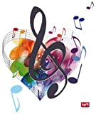 Posters: Music Notes Poster-Sticker Wall-Tattoo - The Colours Of Music (20 x 16 inches)