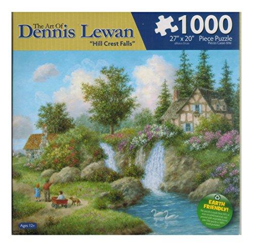 Hill Crest Falls 1000 Piece Puzzle By Dennis Lewan