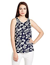 Chemistry Women's Tunic Top (C16-016WTTOP_Cut Roses Aqua_X-Small)