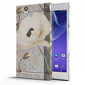 Koveru Designer Printed Protective Snap-On Durable Plastic Back Shell Case Cover for SONY XPERIA T2 Ultra - Flower Art