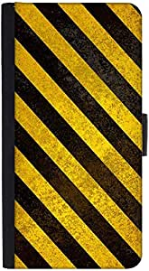 Snoogg Yellow Strips Design Designer Protective Phone Flip Back Case Cover For Samsung Galaxy J7 (2016)