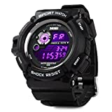 Aposon Mens S-Shock Military LED Digital Quartz Watch Water Resistant Sport Watches Multifunctional - White