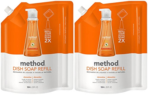 Method Dish Soap Pump Refill - 36 oz - Clementine - 2 pk (Method Dish Detergent Refill compare prices)