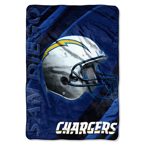 San Diego Chargers XXL Embossed Lightweight Plush Blanket