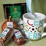 スポーツマグカフェセット (コーヒーとチョコの焼き菓子とマグカップのギフト) マグの柄:サッカー