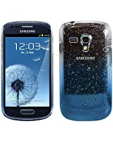 kwmobile® Hard case Rain drops design for Samsung Galaxy S3 Mini i8190 in Blue