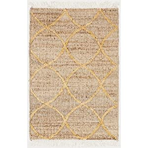 caramel brown and sunflower yellow area throw rug kitchen dining