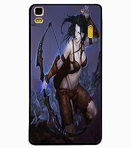 ColourCraft The Warrior Girl Design Back Case Cover for LENOVO A7000 PLUS