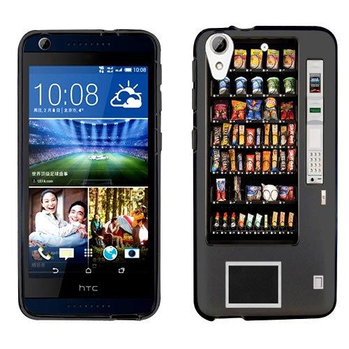 URAKKI Black Retro Vending Machine Design on Hard Slim Fit Phone Case Cover for HTC Desire 626 (Phone Charging Vending Machine compare prices)