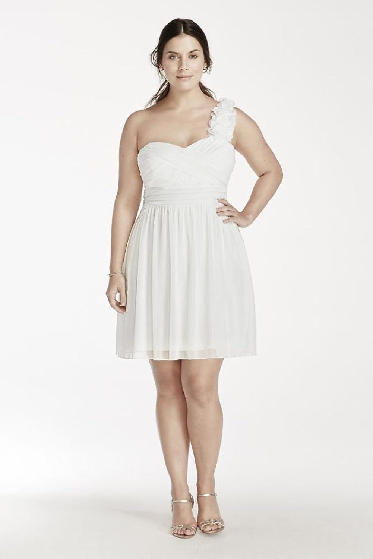 Floral Embellished One Shoulder Strap Mesh Dress Style 8420TT2W one shoulder ruffle embellished dress