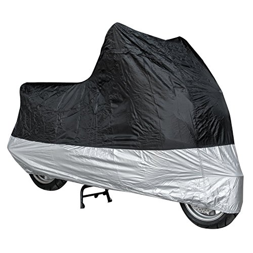 Telo-Copri-Moto-Scooter-Naked-Customo-Impermeabile-PVC-Universale-Argento-Nero