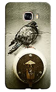 Omnam Girl Holding Red Cup Printed Designer Back Cover Case For Samsung Galaxy C7