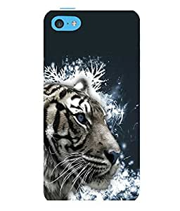 printtech White Tiger Face Back Case Cover for Apple iPhone 5C