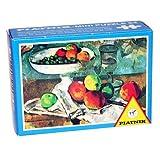 ミニジグソーパズル ポール・セザンヌ 「グラス、果物、ナイフのある静物」