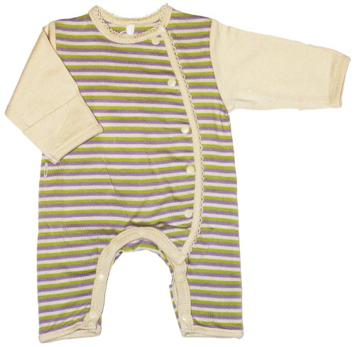 Tamiko Unisex Baby Cotton Nicu-Approved Preemie Romper Striped - 1.5-3 Lbs - 15 In front-693296