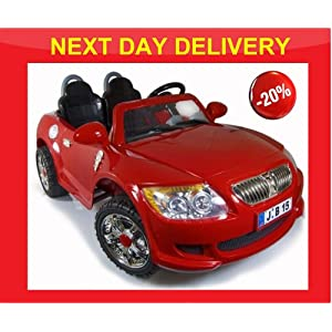 12V KIDS RIDE ON LARGESIZE, BATTERY/ELECTRIC , RED COLOUR CAR, AGE 2-7 YEARS