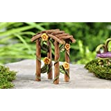 "Miniature Fairy Garden Fairytale Arbor Decor 4"" Tall"