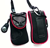 Black / Red Soft Neoprene Extreme Sports Pouch suitable for Sony Ericsson C903