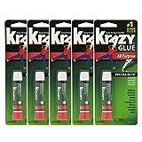 Krazy Glue Original Crazy Super Glue All Purpose Instant Repair, (Pack of 5)