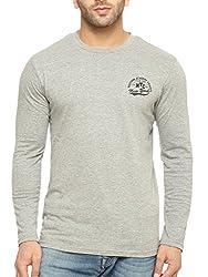 Gritstones Round Neck Full Sleeve T Shirt GSFSPNTNYTSHT1327GM_L