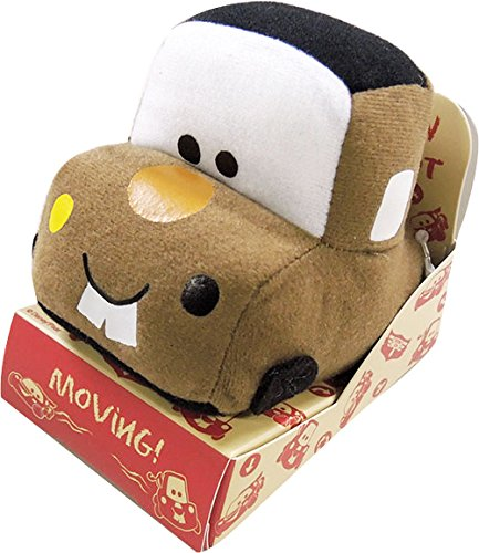 Japan Disney Pixar Official Cars - Mater the Harvester Truck Medium Size Cute Brown Mascot Soft Plush Pull-Back Action Vehicle Racer Stuffed Toys Cushion Kids Doll Plushie House Table Decor Accessory